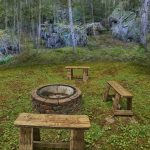 Eagle View Escape rental cabin in Hocking Hills, OH with fire pit