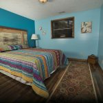 Eagle View Escape rental cabin in Hocking Hills, OH large bedroom with queen bed