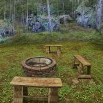 Eagle View Escape rental cabin in Hocking Hills, OH with outdoor fire ring