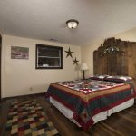 Eagle View Escape rental cabin in Hocking Hills, OH with big bedroom and queen bed