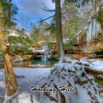 Hocking Hills State Park at winter near Eagle View rental cabins