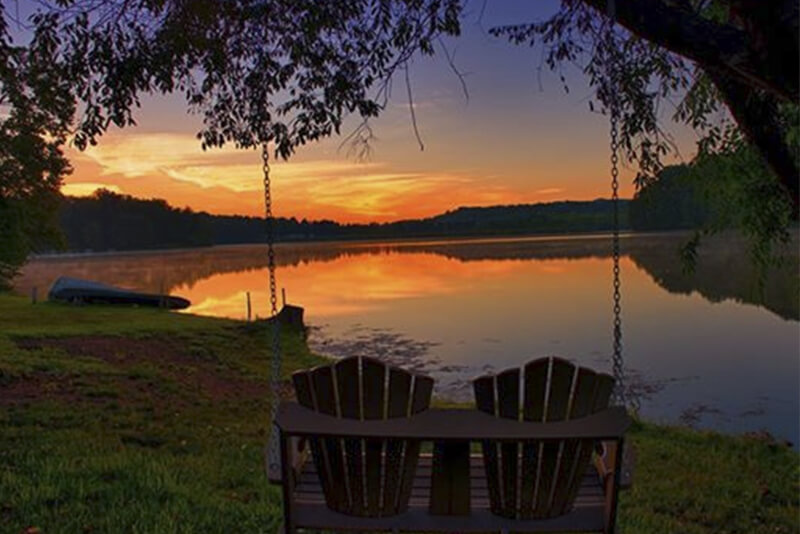 Hocking Hills 2 Bedroom Lakefront Cabin 6 Guests Wi Fi