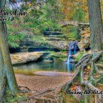 Old Man's Cave Upper Falls Hocking Hills State Park near Eagle View rental cabins