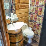 Eagle View Retreat rental cabin in Hocking Hills, OH with big bathroom