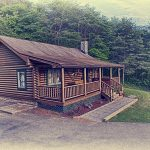 Eagle View Retreat rental cabin in Hocking Hills, OH exterior view sepia