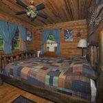 Eagle View Retreat rental cabin in Hocking Hills, OH with big bedroom and queen bed