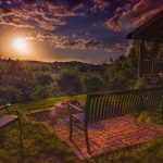 Eagle View Retreat rental cabin in Hocking Hills, OH with fire pit overlooking woods