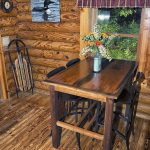 Eagle View Retreat rental cabin in Hocking Hills with dining table and chairs