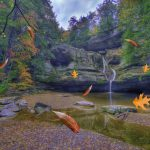 Cedar Falls in Hocking Hills State Park near Eagle View rental cabins