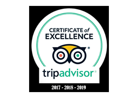 Trip Advisor Certificate of Excellence Icon for Eagle View Properties in Hocking Hills, Ohio